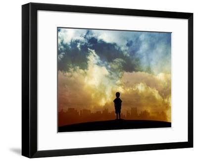 Open your eyes-Alex Cherry-Framed Giclee Print