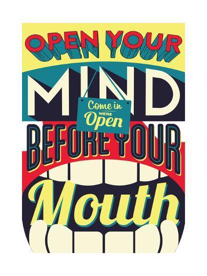 Open Your Mind-Vintage Vector Studio-Art Print