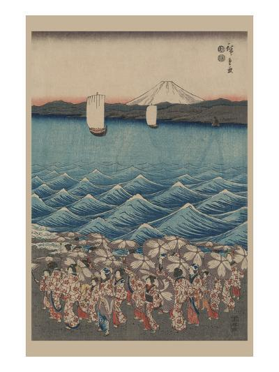 Opening Celebration of Benzaiten Shrine at Enoshima in Soshu-Ando Hiroshige-Art Print
