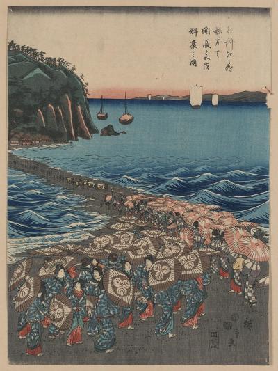 Opening Celebration of Benzaiten Shrine at Enoshima-Ando Hiroshige-Giclee Print