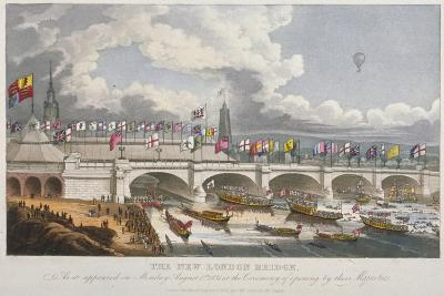 Opening Ceremony of the New London Bridge, 1831--Giclee Print