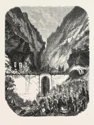 Opening Ceremony of the New Road Bridge Queyras (Hautes-Alpes), France. 1855--Giclee Print