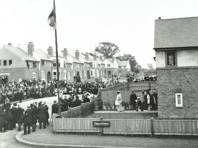 Opening Ceremony on Ruislip Street, Totterdown Estate, Wandsworth, London, 1903--Photographic Print