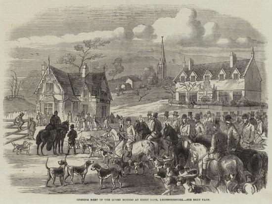 Opening Meet of the Quorn Hounds at Kirby Gate, Leicestershire--Giclee Print