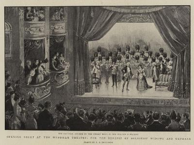 Opening Night at the Wyndham Theatre, for the Benefit of Soldiers' Widows and Orphans--Giclee Print