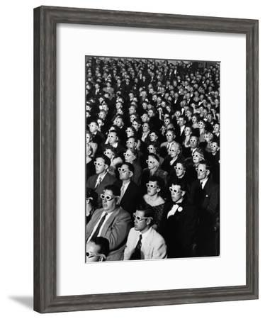 """Opening Night Screening of First Color 3-D Movie """"Bwana Devil,"""" Paramount Theater, Hollywood, CA-J. R. Eyerman-Framed Premium Photographic Print"""