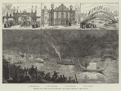 Opening of a New Park at Bedford, and River Carnival--Giclee Print