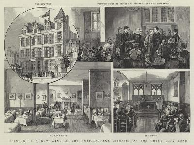 Opening of a New Wing of the Hospital for Diseases of the Chest, City Road--Giclee Print