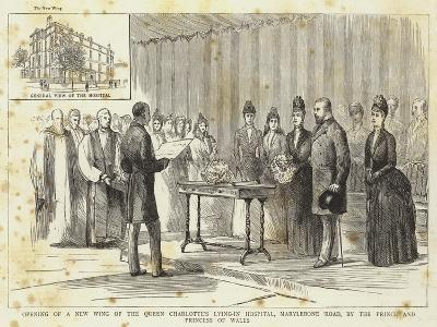 Opening of a New Wing of the Queen Charlotte's Lying-In Hospital--Giclee Print