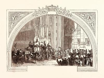 Opening of Parliament, February 3, 1852. the Victoria Tower. London, Uk--Giclee Print