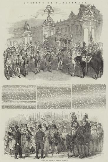 Opening of Parliament--Giclee Print