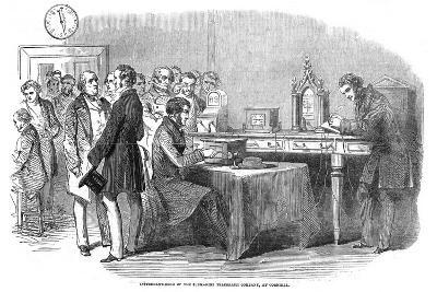 Opening of the 1851 London to Paris Telegraph Link--Giclee Print