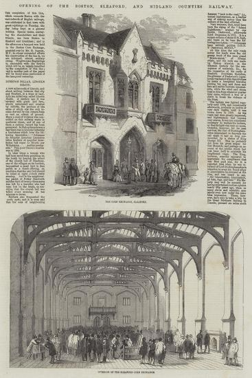 Opening of the Boston, Sleaford, and Midland Counties Railway-Samuel Read-Giclee Print