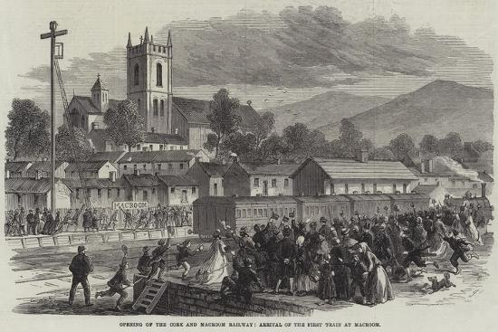 Opening of the Cork and Macroom Railway, Arrival of the First Train at Macroom--Giclee Print