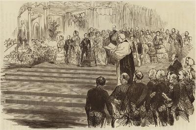 Opening of the Crystal Palace, the Archbishop's Prayer, 1854--Giclee Print