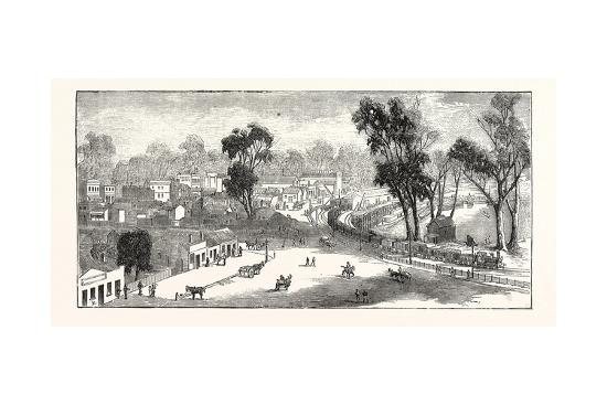 Opening of the Deniliquin and Echuca Railway: Echuca, South Australia, 1876--Giclee Print