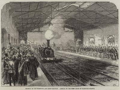 Opening of the Falmouth and Truro Railway, Arrival of the First Train at Falmouth Station--Giclee Print