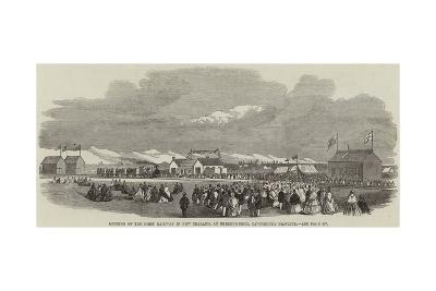 Opening of the First Railway in New Zealand, at Christchurch, Canterbury Province--Giclee Print