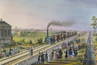 Opening of the First Railway Line from St. Petersburg to Pavlovsk in 1837--Giclee Print