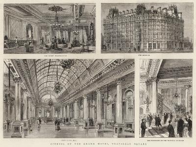 Opening of the Grand Hotel, Trafalgar Square--Giclee Print