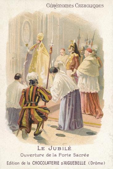 Opening of the Holy Door by the Pope, Jubilee--Giclee Print