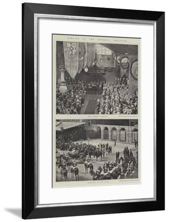 Opening of the Imperial Institute--Framed Giclee Print