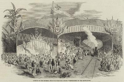 Opening of the Imperial Petropolis Railway, Brazil, Benediction of the Locomotives--Giclee Print