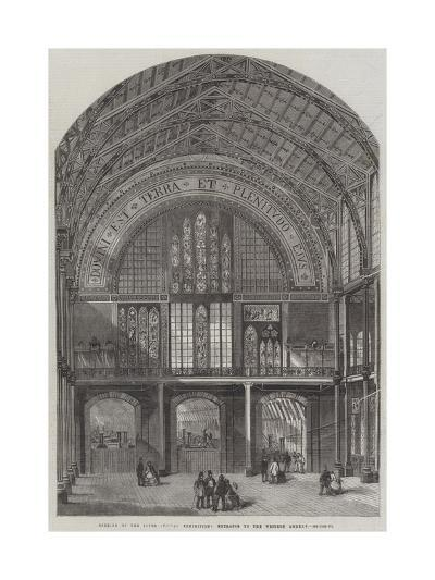 Opening of the International Exhibition, Entrance to the Western Annexe--Giclee Print