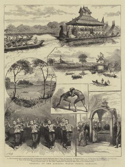 Opening of the Kokaing Water Works, Rangoon--Giclee Print