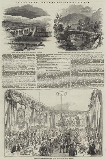 Opening of the Lancaster and Carlisle Railway--Giclee Print