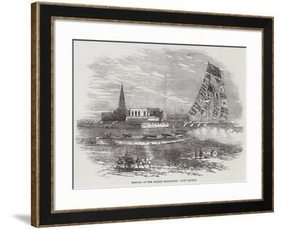 Opening of the Madras Exhibition, Fort George--Framed Giclee Print