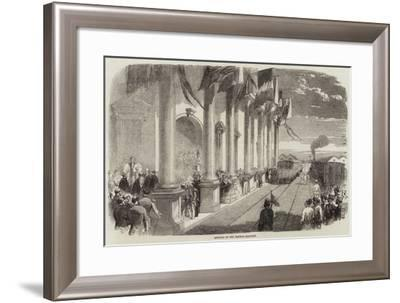 Opening of the Madras Railway--Framed Giclee Print