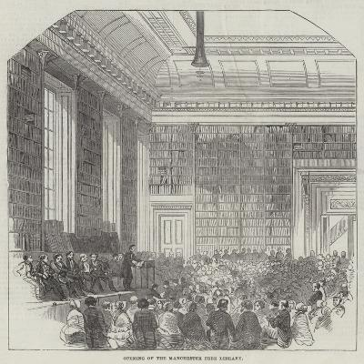 Opening of the Manchester Free Library--Giclee Print