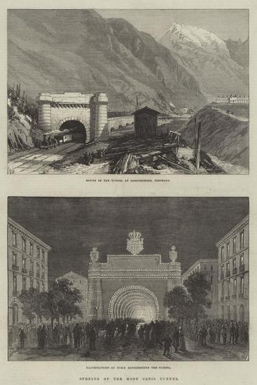 Opening of the Mont Cenis Tunnel--Giclee Print