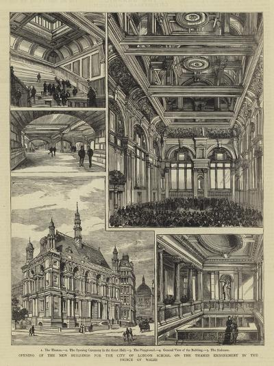 Opening of the New Buildings for the City of London School on the Thames Embankment by the Prince o--Giclee Print