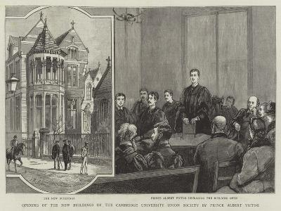 Opening of the New Buildings of the Cambridge University Union Society by Prince Albert Victor--Giclee Print