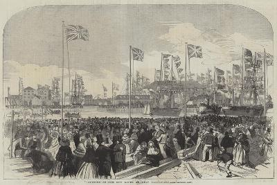 Opening of the New Docks at West Hartlepool--Giclee Print
