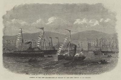 Opening of the New Graving-Dock at Belfast by the Lord Lieutenant of Ireland--Giclee Print
