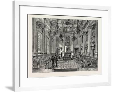 Opening of the New Houses of Parliament, Capetown: the House of Assembly--Framed Giclee Print