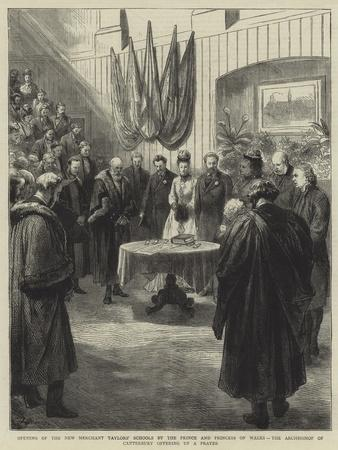 Opening of the New Merchant Taylors' Schools by the Prince and Princess of Wales-Godefroy Durand-Giclee Print