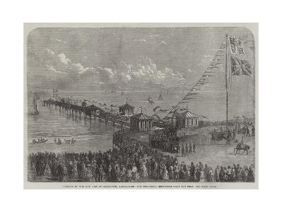 Opening of the New Pier at Blackpool, Lancashire, the Procession Returning from the Pier--Giclee Print