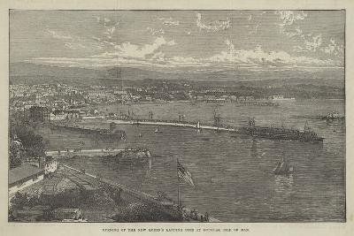 Opening of the New Queen's Landing Pier at Douglas, Isle of Man--Giclee Print