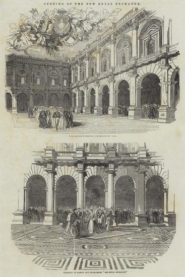 Opening of the New Royal Exchange--Giclee Print