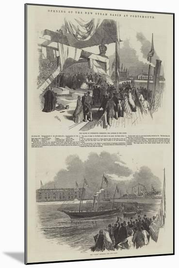 Opening of the New Steam Basin at Portsmouth-Myles Birket Foster-Mounted Giclee Print