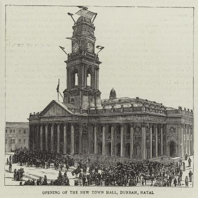 Opening of the New Town Hall, Durban, Natal--Giclee Print