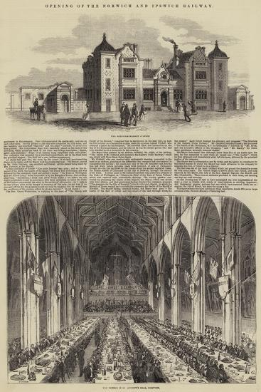 Opening of the Norwich and Ipswich Railway--Giclee Print