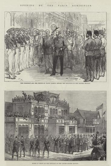 Opening of the Paris Exhibition-Charles Robinson-Giclee Print