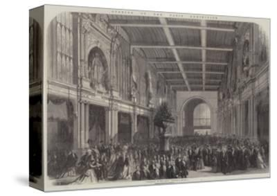 Opening of the Paris Exhibition--Stretched Canvas Print