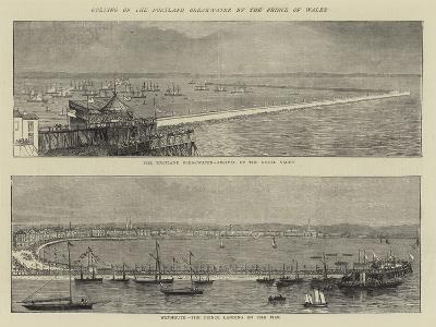 Opening of the Portland Breakwater by the Prince of Wales--Giclee Print