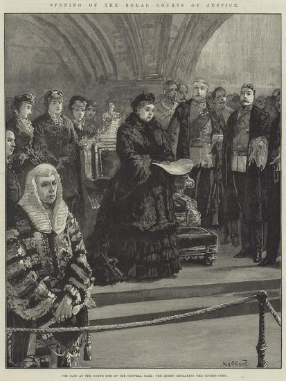 Opening of the Royal Courts of Justice-William Heysham Overend-Giclee Print
